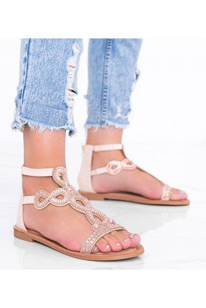 Dámske topánky sandále hnedé kód J82-1 - GM