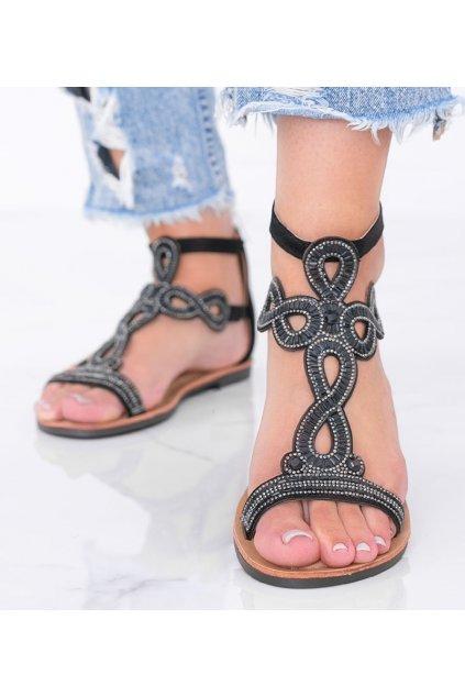 Dámske topánky sandále čierne kód J82-1 - GM
