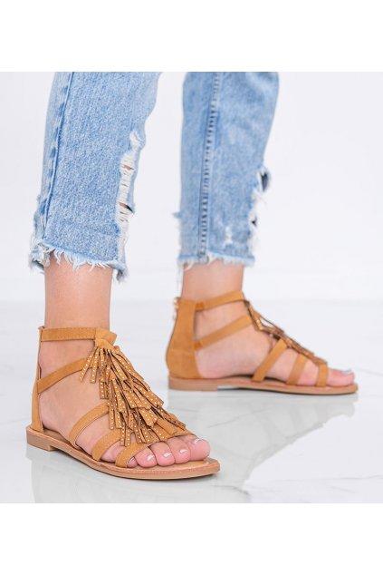 Dámske topánky sandále hnedé kód J81-1 - GM