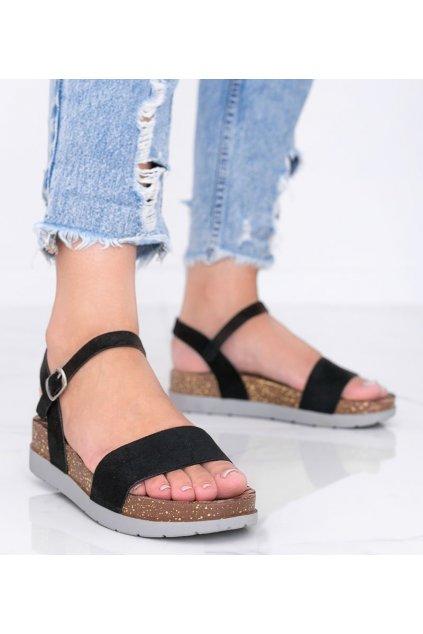 Dámske topánky sandále čierne kód DE506-1 - GM