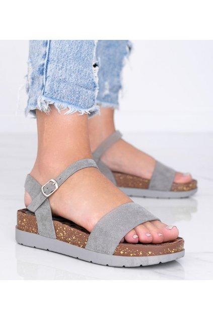 Dámske topánky sandále sivé kód DE506-4 - GM