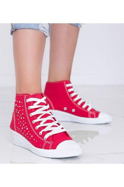 Dámske topánky tenisky červené kód 021 - GM