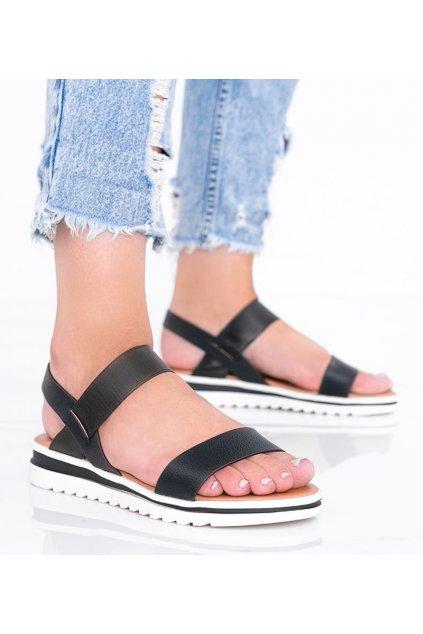 Dámske topánky sandále čierne kód PT-3R20-1 - GM