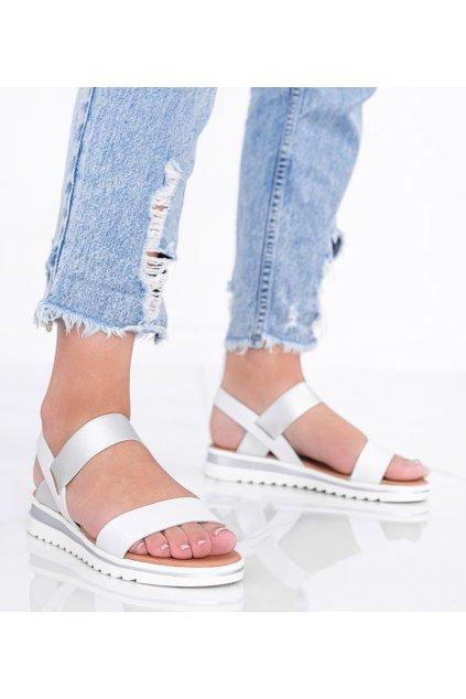 Dámske topánky sandále biele kód PT-3R20-43 - GM