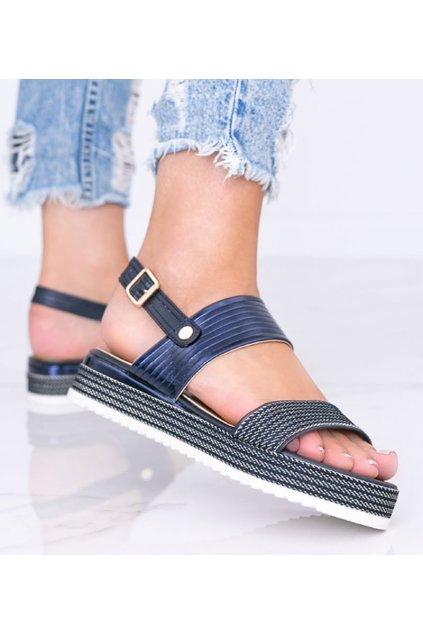 Dámske topánky sandále modré kód YQ16 - GM