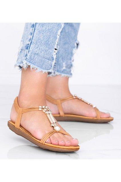 Dámske topánky sandále hnedé kód H075 - GM