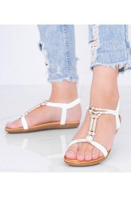 Dámske topánky sandále biele kód H075 - GM