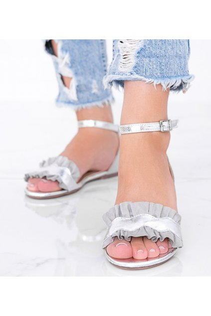 Dámske topánky sandále sivé kód 3458 - GM