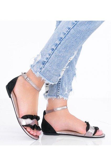 Dámske topánky sandále čierne kód 3458 - GM