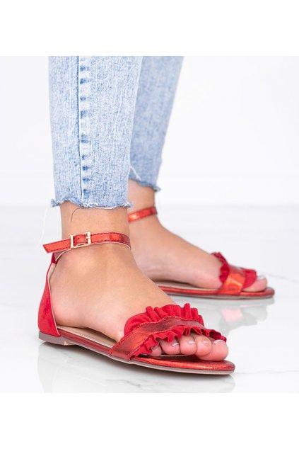 Dámske topánky sandále červené kód 3458 - GM