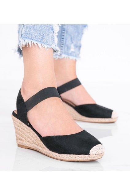 Dámske topánky espadrilky čierne kód 9R50 - GM