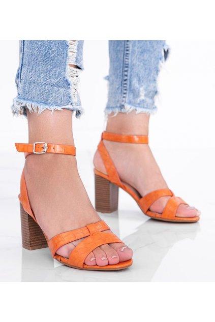 Dámske topánky sandále oranžové kód 333-12 - GM
