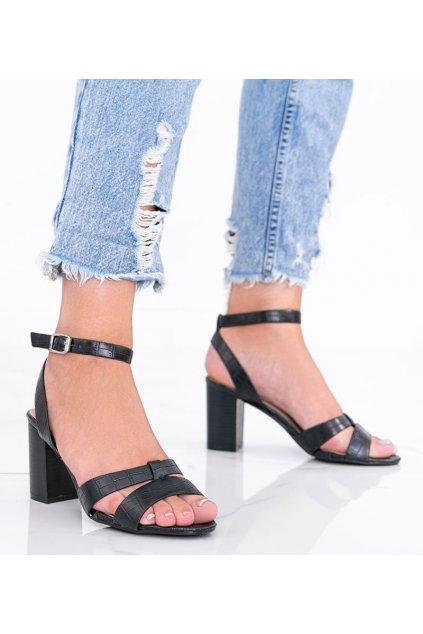 Dámske topánky sandále čierne kód 333-12 - GM
