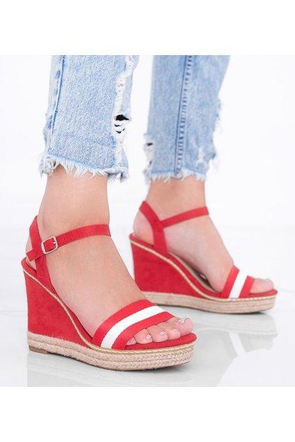 Dámske topánky espadrilky červené kód LL6320 - GM