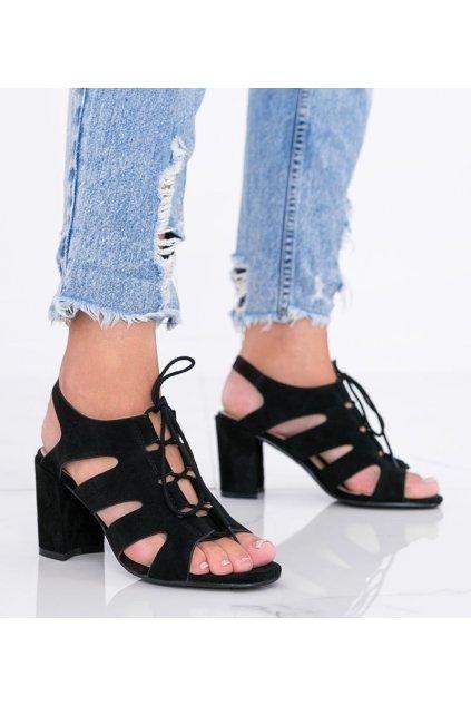 Dámske topánky sandále čierne kód F20-19 - GM
