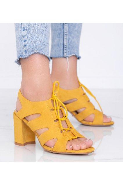 Dámske topánky sandále žlté kód F20-19 - GM