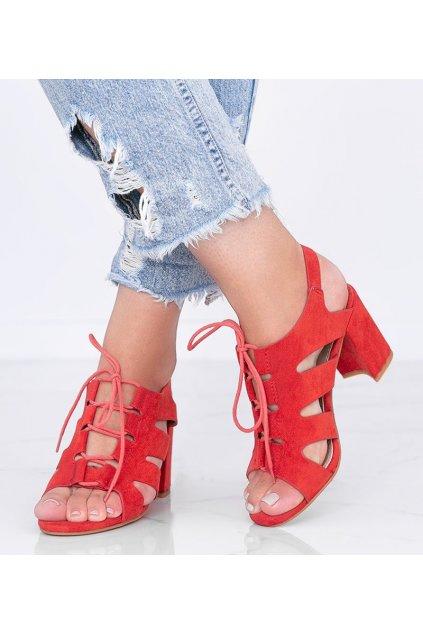 Dámske topánky sandále červené kód F20-19 - GM