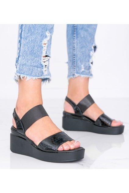 Dámske topánky sandále čierne kód 3193 - GM