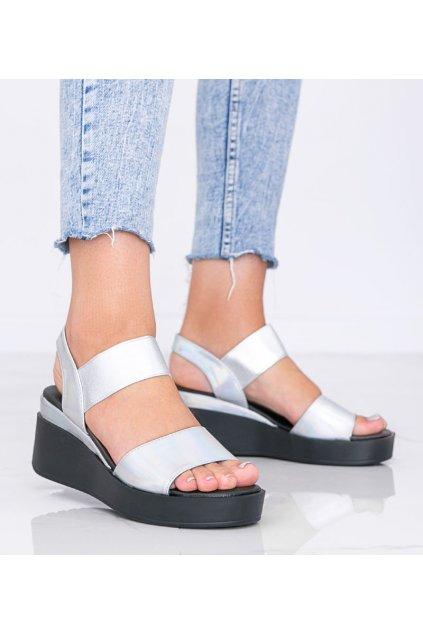 Dámske topánky sandále sivé kód 3193 - GM