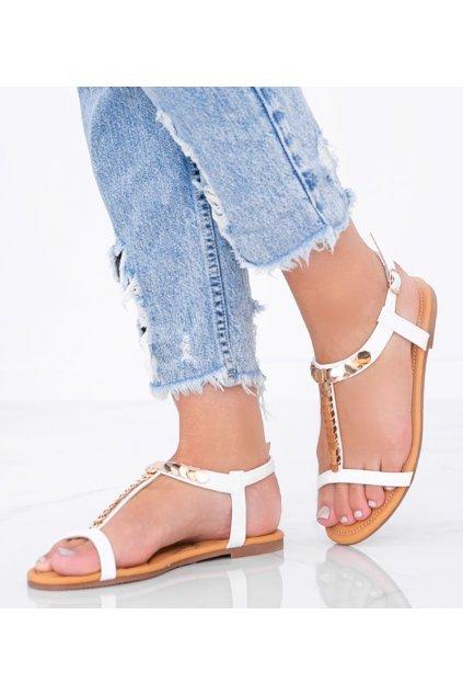 Dámske topánky sandále biele kód AG202-2 - GM