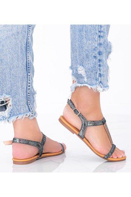 Dámske topánky sandále čierne kód AG201-1 - GM