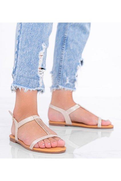 Dámske topánky sandále hnedé kód AG201-3 - GM