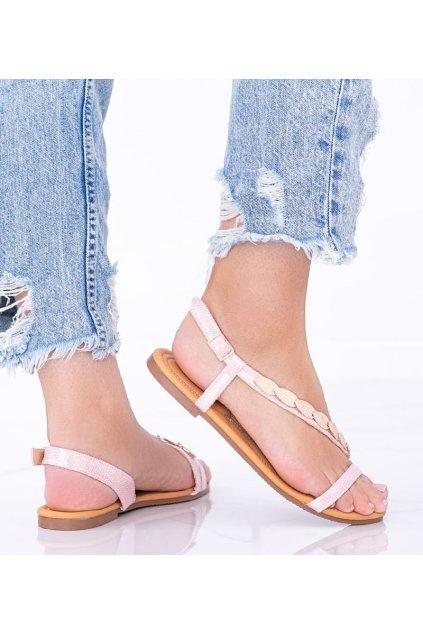 Dámske topánky sandále ružové kód AG204-2 - GM