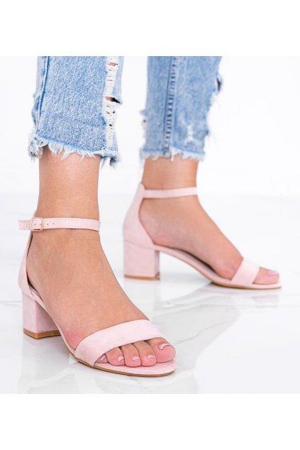 Dámske topánky sandále ružové kód LEI358-D - GM