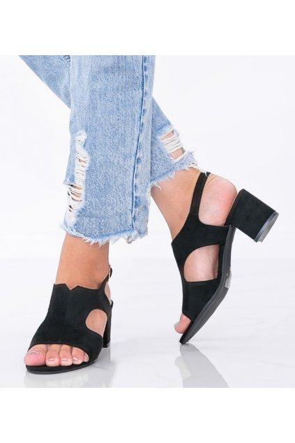 Dámske topánky sandále čierne kód LEI502-A - GM