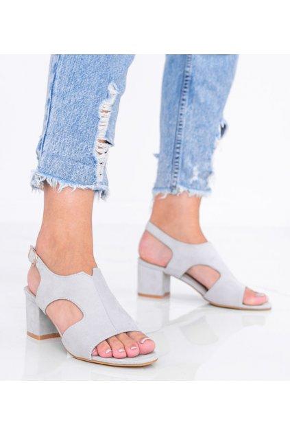 Dámske topánky sandále sivé kód LEI502-C - GM