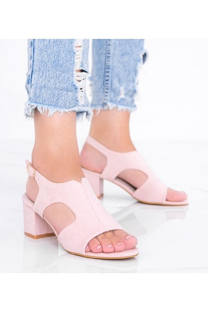 Dámske topánky sandále ružové kód LEI502-D - GM