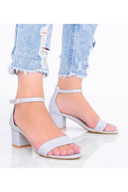 Dámske topánky sandále sivé kód LEI259-A - GM