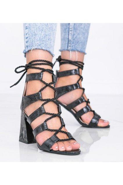 Dámske topánky sandále čierne kód R128P - GM