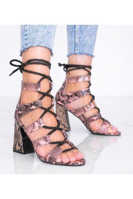 Dámske topánky sandále ružové kód R128P - GM