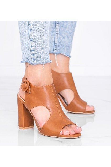 Dámske topánky sandále hnedé kód SL100P - GM