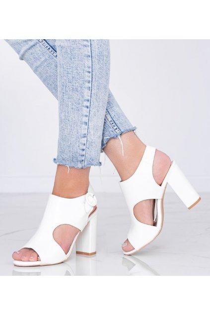 Dámske topánky sandále biele kód SL100P - GM