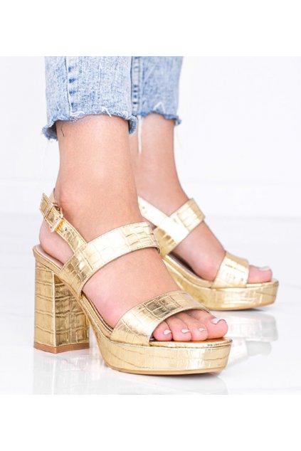 Dámske topánky sandále žlté kód KK38P - GM