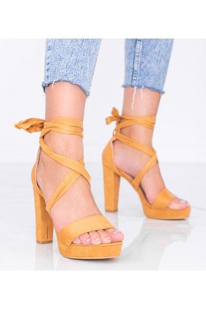Dámske topánky sandále hnedé kód KK35P - GM