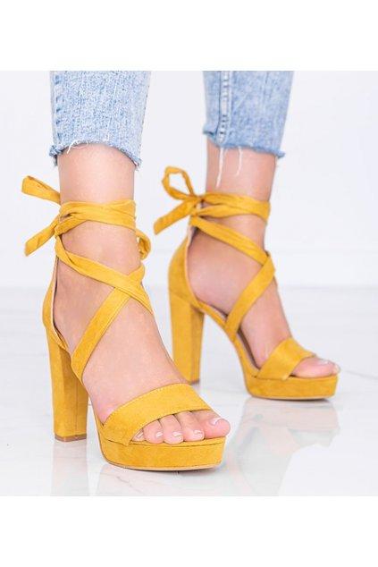 Dámske topánky sandále žlté kód KK35P - GM