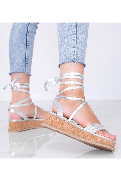 Dámske topánky sandále sivé kód 680-43 - GM