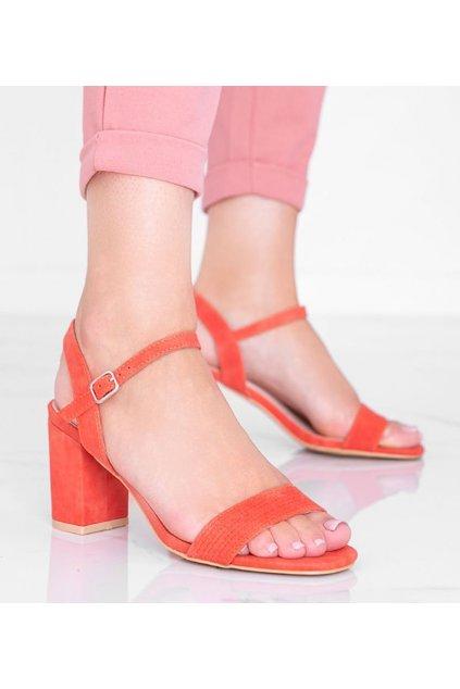 Dámske topánky sandále oranžové kód 8158 - GM