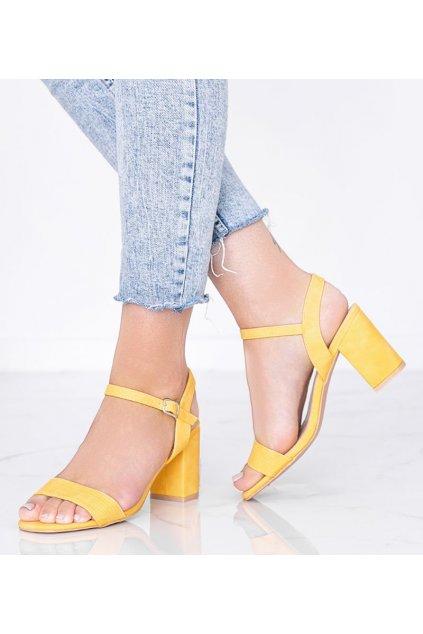 Dámske topánky sandále žlté kód 8158 - GM