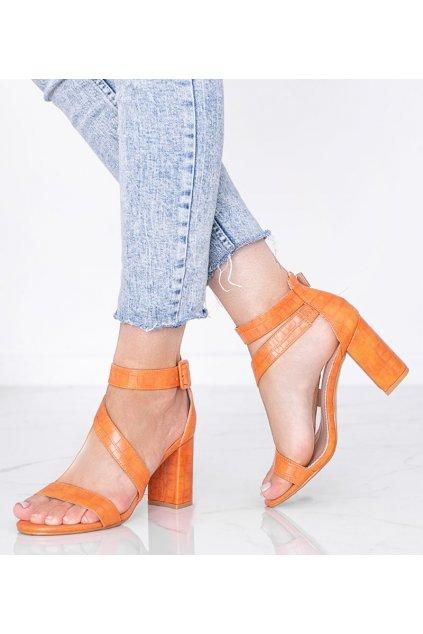 Dámske topánky sandále oranžové kód S-901 - GM