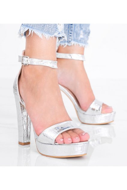 Dámske topánky sandále sivé kód KK32P - GM