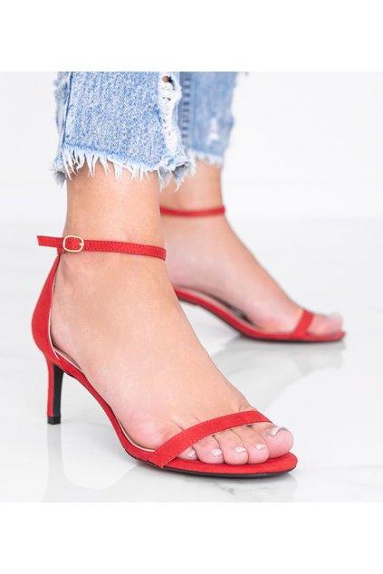 Dámske topánky sandále červené kód NF-34P - GM