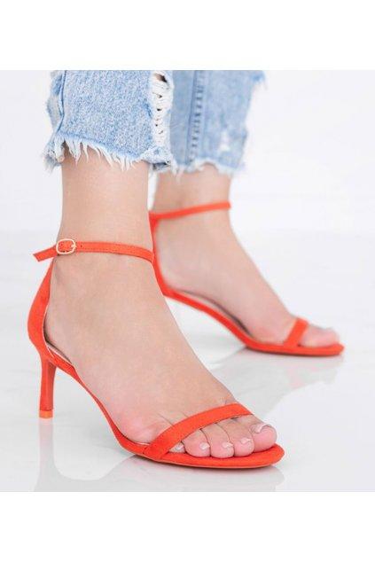 Dámske topánky sandále oranžové kód NF-34P - GM