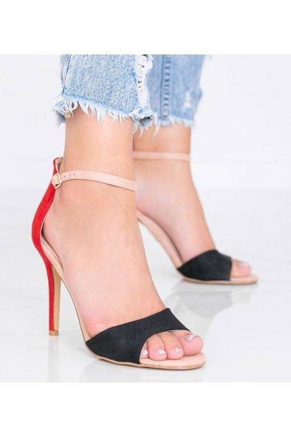 Dámske topánky sandále červené kód WD100P - GM