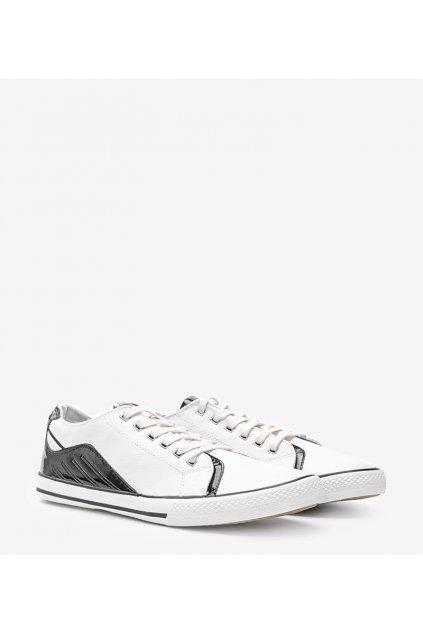 Pánske topánky tenisky biele kód FH0060 - GM