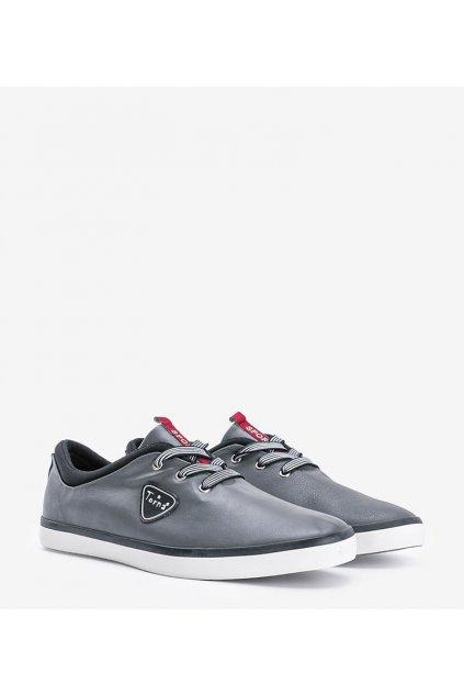 Pánske topánky tenisky sivé kód B-21 - GM