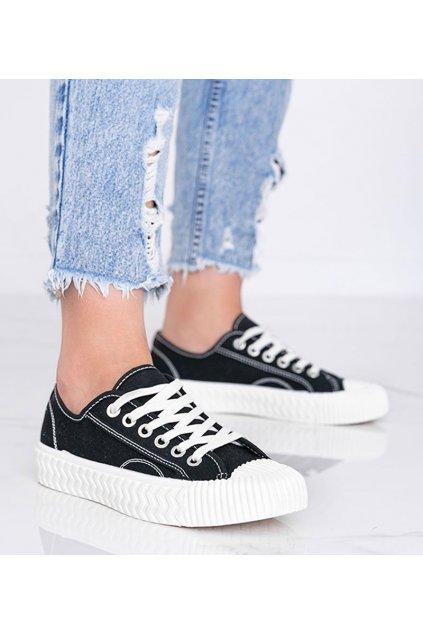 Dámske topánky tenisky čierne kód LC9722-1 - GM
